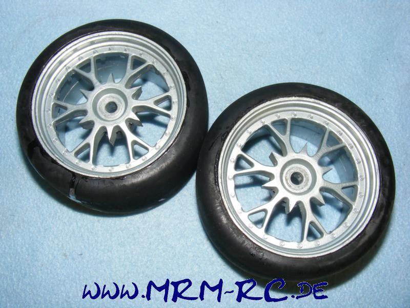 2 Räder Rad Reifen Felgen Carson Smartech C5 FG Reely Slick M BBS 818