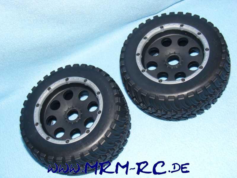 2 Räder Rad Reifen Felgen Reely Carbon Fighter Graupner MT6 Buggy 1:6 NEU