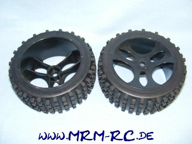 Carson Dirt Attack 500900095 Tyre Set Reifen Felgen Räder Set 2 Stück