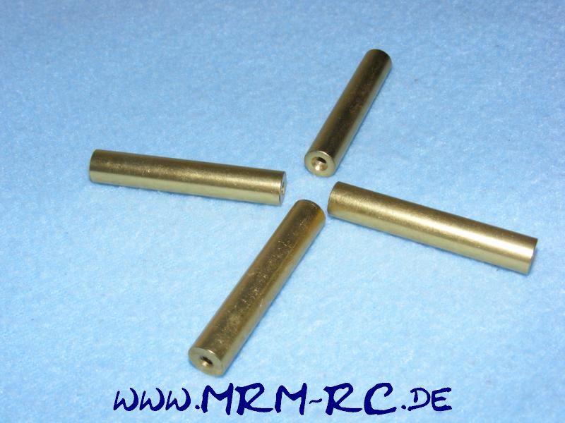 4 ALU Karossenhalter Steher Distanzstück Abstandsbolzen 5,9mm L 46 mm Gewinde M3