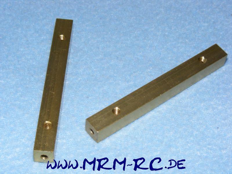 2 ALU Karossenhalter Steher Distanzstück Abstandsbolzen 8 mm L 73 mm Gewinde M3