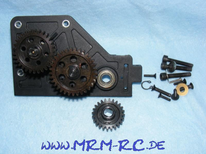 Getriebe komplett Zahnrad Kupplungsglocke Reely Carbon Fighter Neu