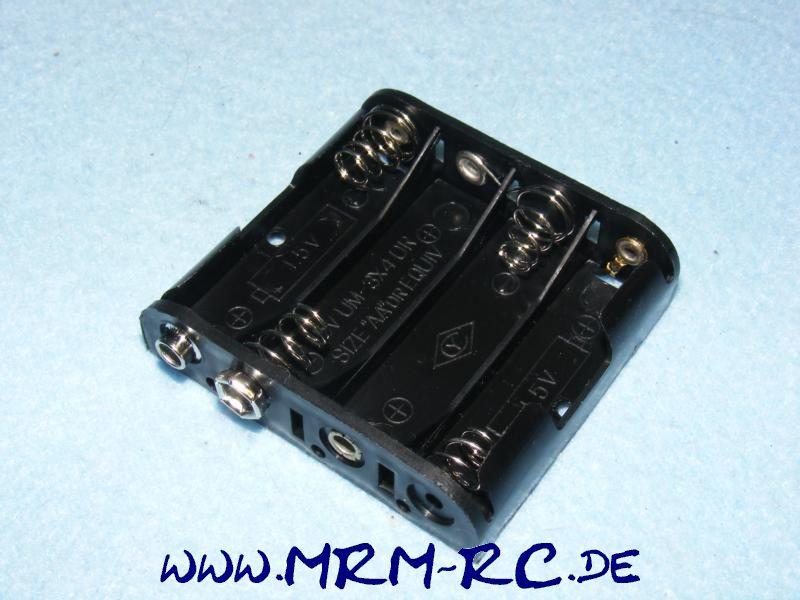 Akkuhalter Batteriehalter Accu Batterie Halter 4 x AA Mignon NEU