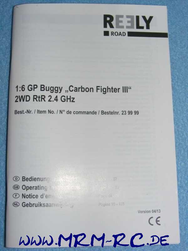 Bedienungsanleitung Anleitung Reely Carbon Fighter 3 2WD