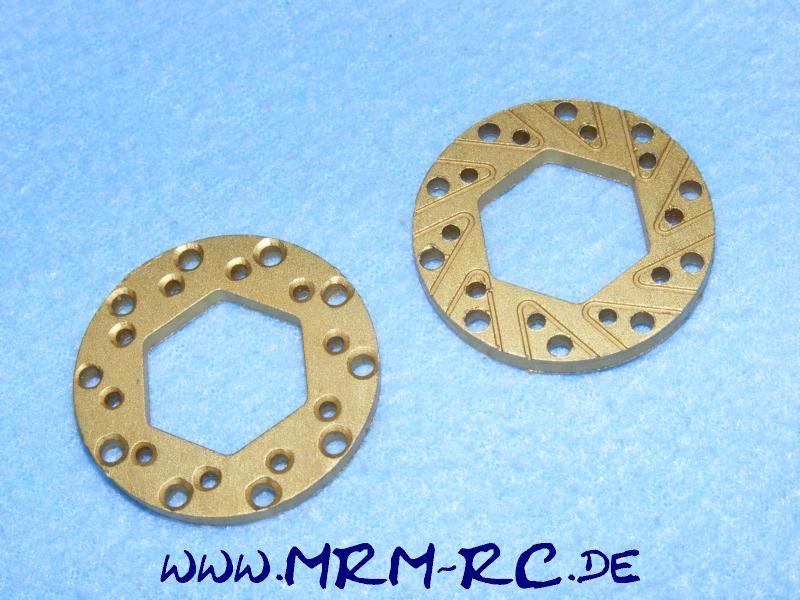 2 ALU Bremsscheiben Bremse Traxxas 36,2 mm Sechskant 18,9 mm d 3,2 mm