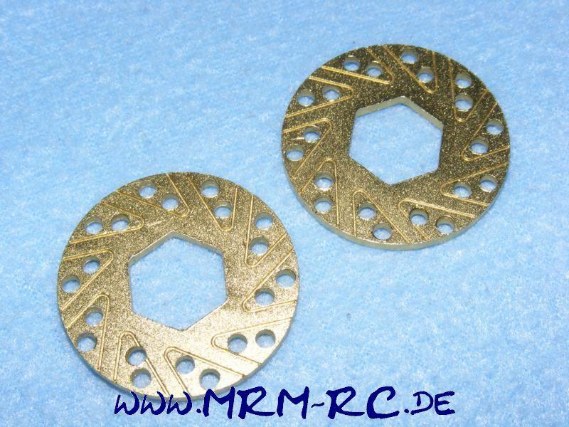 2 ALU Bremsscheiben Bremse 36 mm Sechskant 14 mm d 2 mm Brake Disc 1:10