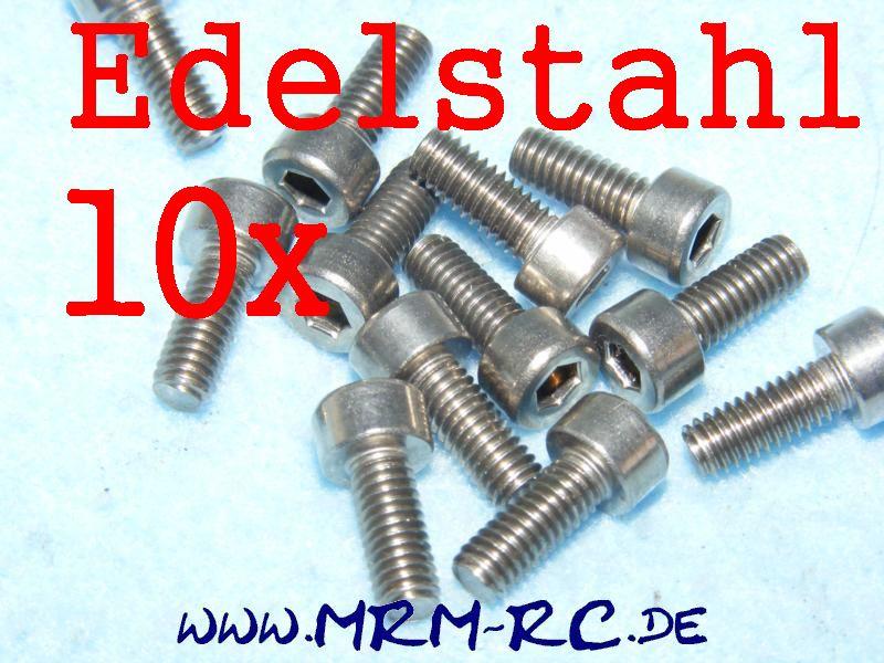 DIN 912 M4 x 10 A2 Edelstahl Innensechskant Schraube 10er Pack 6725/10 52001
