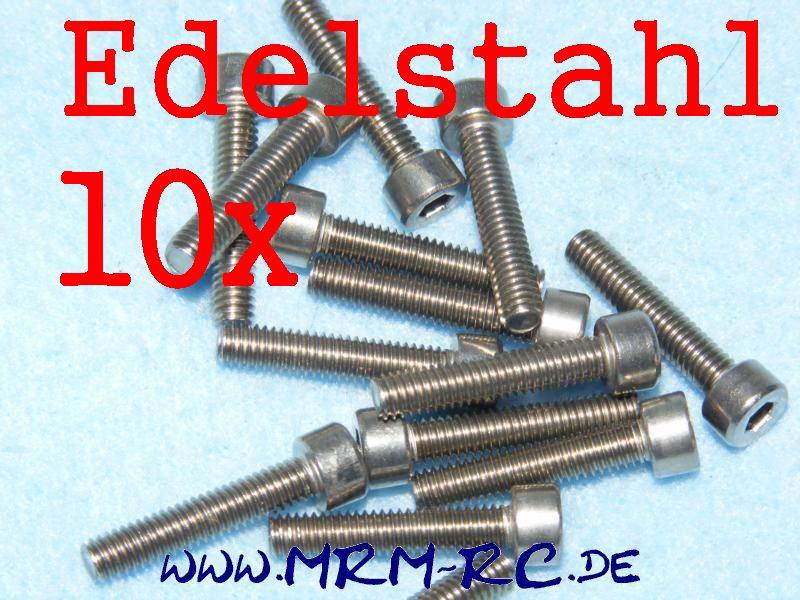 DIN 912 M4 x 20 A2 Edelstahl Innensechskant Schraube 10er Pack 6725/20 32440 520