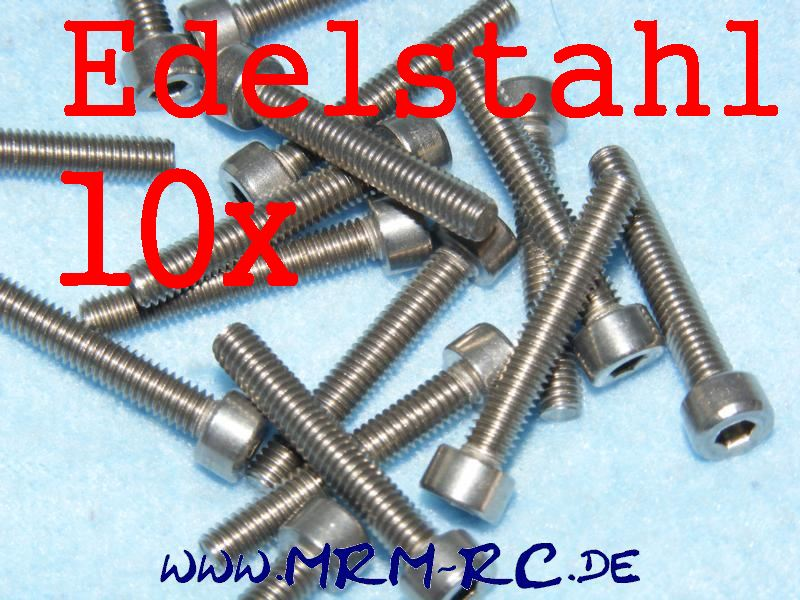 DIN 912 M4 x 25 A2 Edelstahl Innensechskant Schraube 10er Pack 6725/25 52003