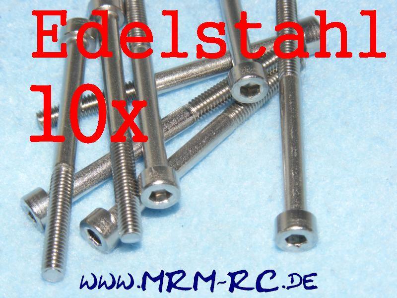 DIN 912 M4 x 50/20 A2 Edelstahl Innensechskant Schraube 10er Pack 52004