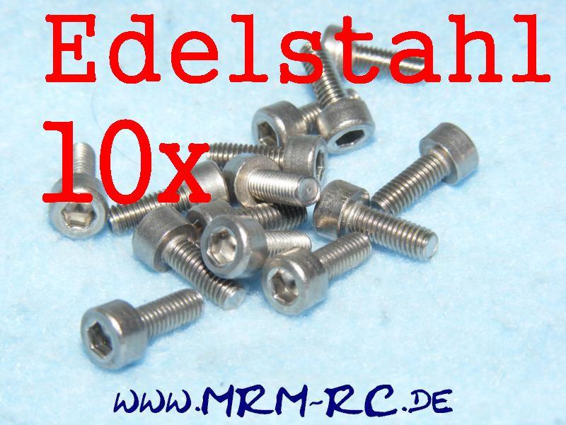 DIN 912 M3 x 8 A2 Edelstahl Innensechskant Schraube 10er Pack 6724/08 52005