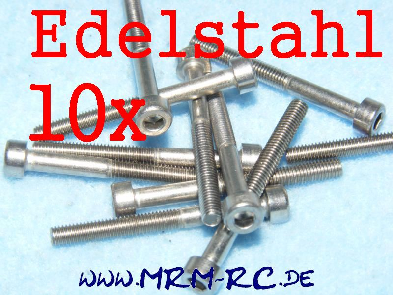 DIN 912 M3 x 30 A4 Edelstahl Innensechskant Schraube 10er Pack 9440/04 32760 520