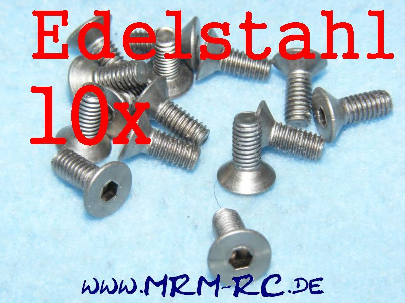 DIN 7991 M4 x 10 A4 Edelstahl Innensechskant Schraube 10er Pack 6718/08 205097 5