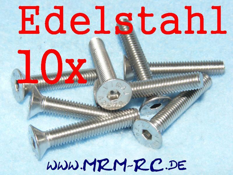 DIN 7991 M5 x 30 A2 Edelstahl Innensechskant Schraube 10er Pack 6722/30 32565 52