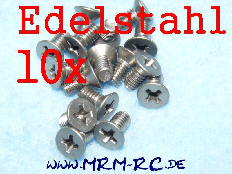 DIN 965 M4 x 8 A4 Edelstahl Kreuzschlitz Schraube 10er Pack 6718/08 32430 52012