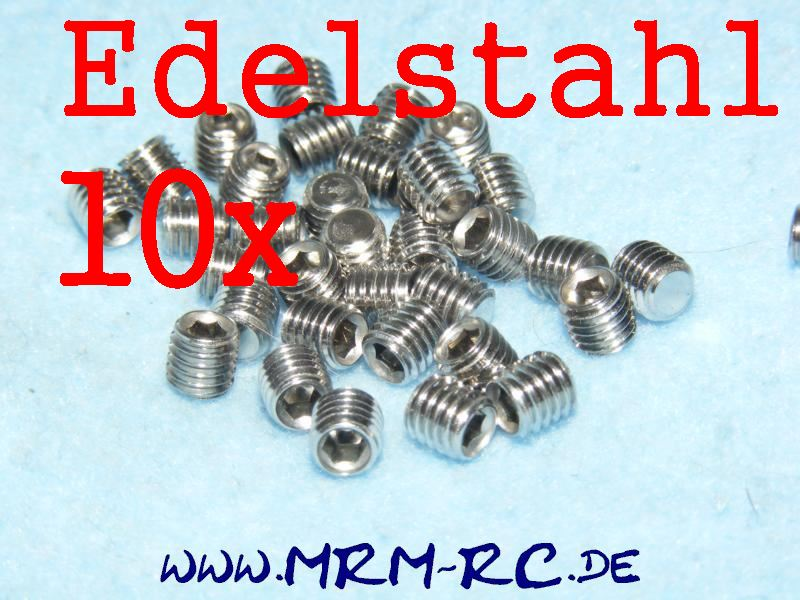 DIN 913 M5 x 5 A2 Edelstahl GEWINDESTIFT Schraube 10er Pack 32437 6730/05 52013