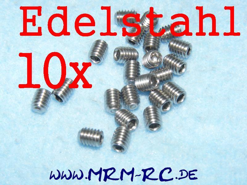 DIN 913 M4 x 5 A2 Edelstahl GEWINDESTIFT Schraube 6929/04 32438 10er Pack 52014