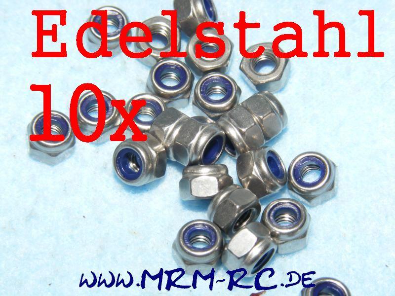 DIN 985 M4 A2 Edelstahl Mutter Sicherungsmutter 11923 6738/04 10er Pack 52016