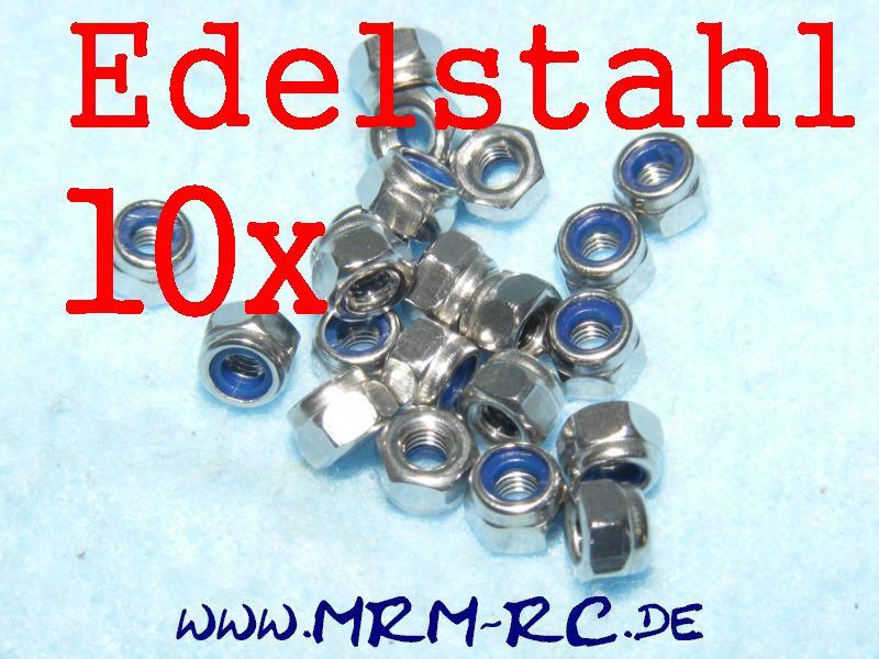 DIN 985 M3 A2 Edelstahl Mutter Sicherungsmutter 11329 6738/03  10er Pack 52018