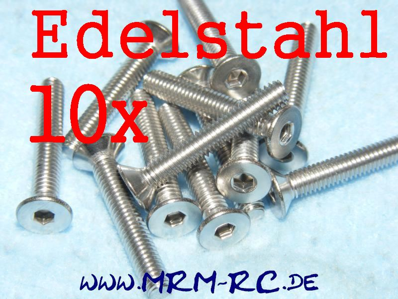DIN 7991 M4 x 25 A4 Edelstahl Innensechskant Schraube 6720/25 32765  10er Pack 5
