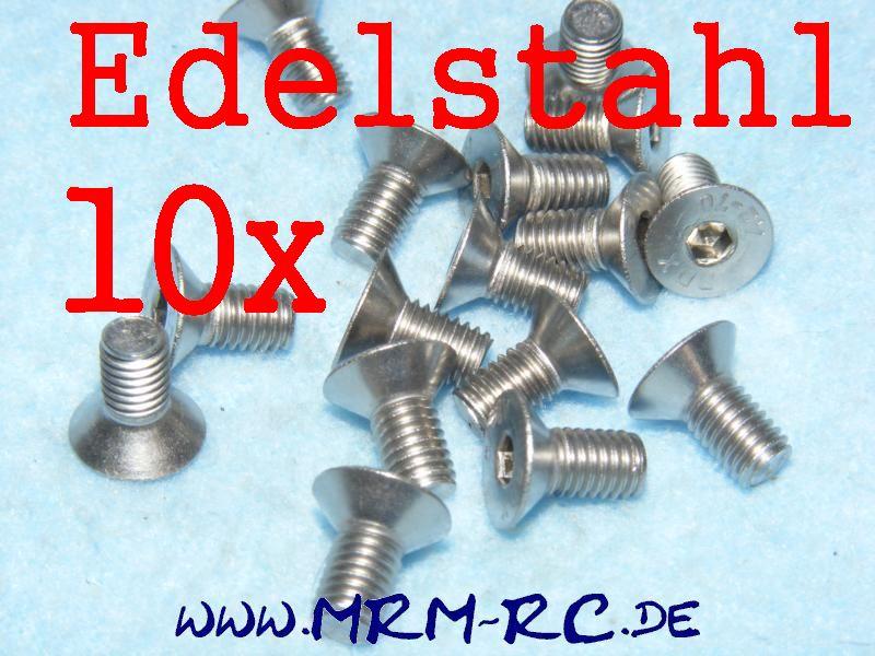 DIN 7991 M5 x 10 Edelstahl Innensechskant Schraube 6722/10 32566 10er Pack  5202