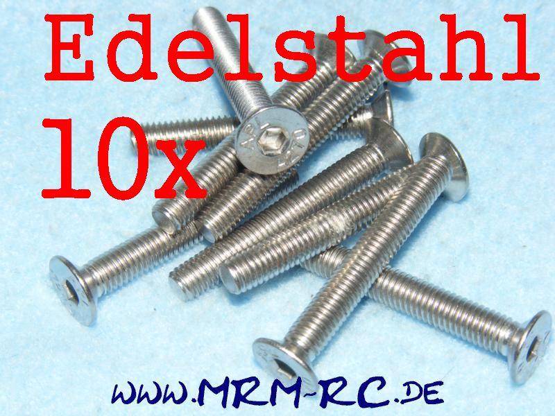 DIN 7991 M5 x 35 A2 Edelstahl Innensechskant Schraube 6722/35 32763 10er Pack 52