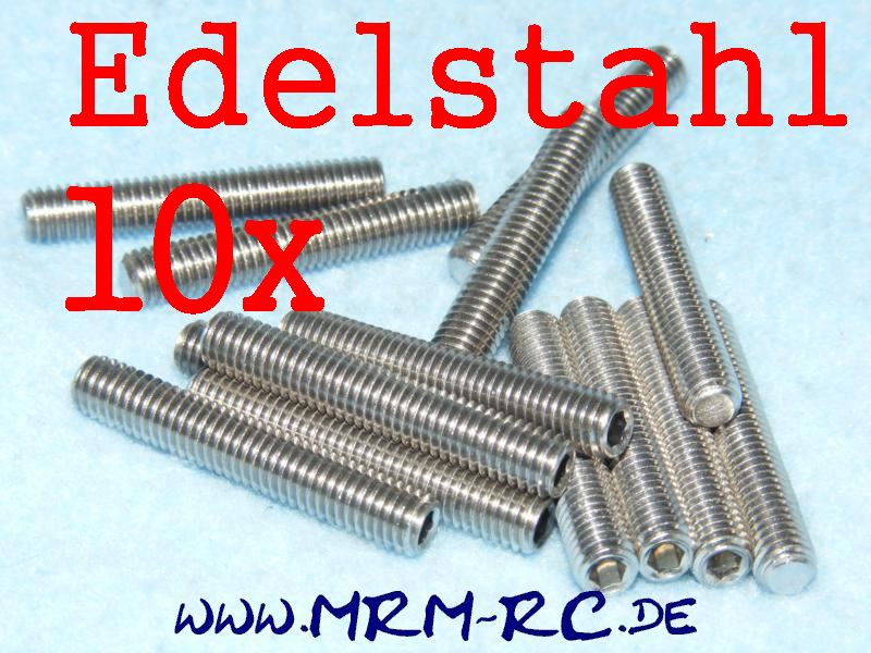 DIN 913 M5 x 30 A2 Edelstahl GEWINDESTIFT Schraube 32435 6730/30 10er Pack 52024