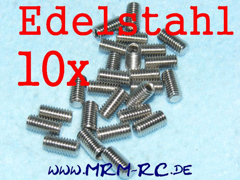 DIN 913 M5 x 10 A2 Edelstahl GEWINDESTIFT Schraube 32444 6730/10 10er Pack 52025