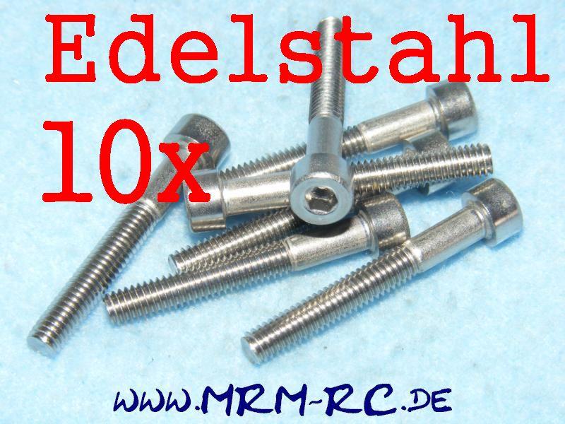 DIN 912 M4 x 30 A2 Edelstahl Innensechskant Schraube 10er Pack 32562 52026
